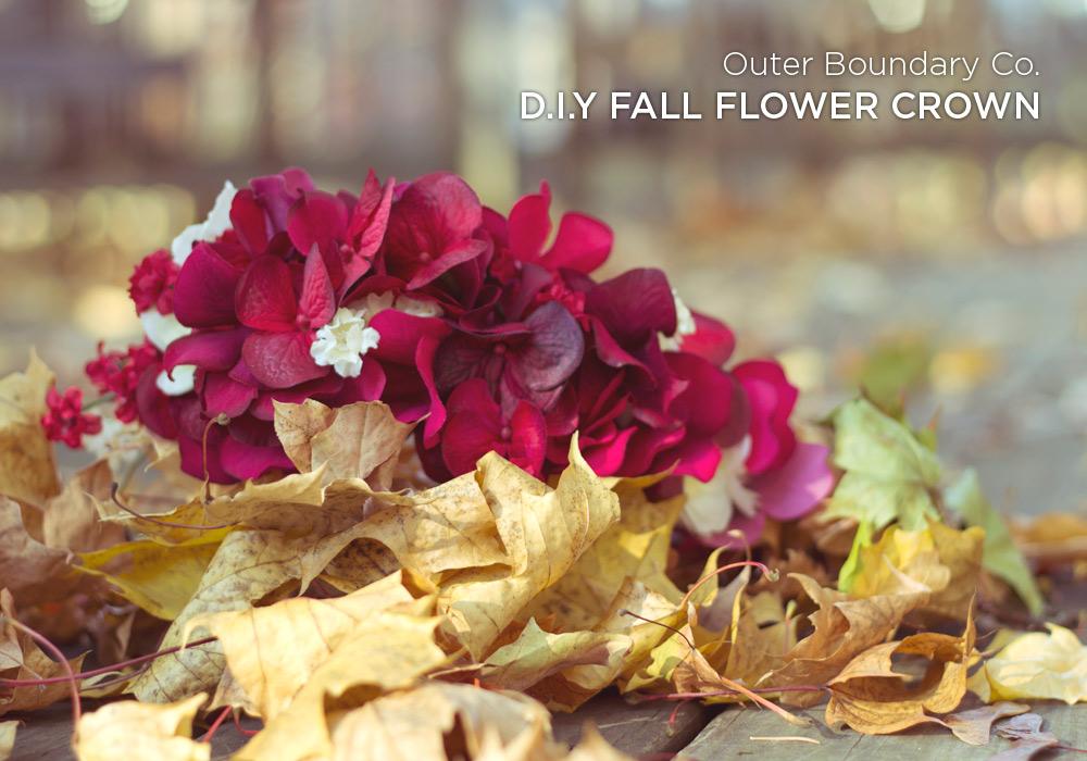 Fall flower crown diy